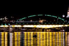 Łowić przy nocą Zdjęcia Royalty Free