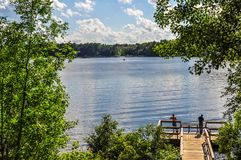 Łowić przy Sibley jeziora parka połowu molem zdjęcie royalty free