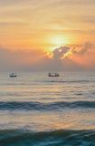 Łowić przy wschodem słońca Zdjęcia Stock