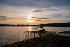 Łowić przy zmierzchem Zdjęcie Royalty Free