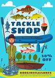 Łowić sporta i sprzętu sklepowego plakat z fisher royalty ilustracja