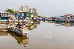 Łowić starego schronienie Dżakarta, Indonezja zdjęcia royalty free