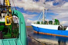 Łowić statki w morzu bałtyckim zdjęcia stock