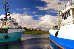 Łowić statki w morzu bałtyckim zdjęcia royalty free