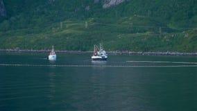 Łowić statki w Norweskim morzu zdjęcie wideo