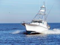 Łowić status łódź Obraz Royalty Free