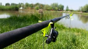Łowić w jeziorze Obrazy Royalty Free