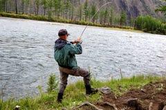 Łowić w Mongolia obrazy royalty free