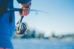 Łowić w Moreno jeziorze Obrazy Royalty Free