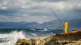 Łowić w morzu Obraz Royalty Free