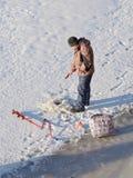 Łowić w zimie Zdjęcie Royalty Free