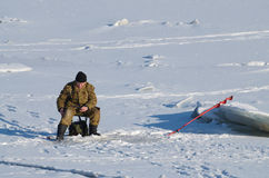 Łowić w zimie Fotografia Stock