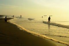 Łowić wpólnie w Mekong delcie - Wietnam Zdjęcie Royalty Free