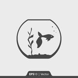 Łowi w akwarium ikonie dla sieci i wiszącej ozdoby Zdjęcia Stock