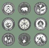 Łowiecki klubu, połowu i ilustracj logo, ilustracja wektor
