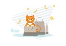 Łowiecki kota pojęcie royalty ilustracja
