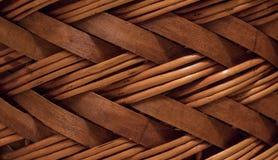 Łozinowa lub rattan kosza tekstura O dużej zdolności bezszwowa tekstura zdjęcie stock