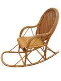 Łozinowy brąz kołysa krzesła odizolowywającego na bielu Obrazy Royalty Free