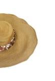 Łozinowy kapelusz odizolowywający na bielu Zdjęcia Stock