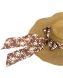 Łozinowy kapelusz odizolowywający na bielu Obrazy Royalty Free