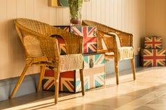 Łozinowy krzesło Obrazy Royalty Free
