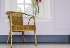 Łozinowy krzesło Obraz Stock