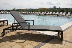 Łozinowy plażowy holu krzesło Zdjęcie Stock
