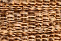 Łozinowy rattan tło struktura Zakończenie Tło dla projekta Obrazy Royalty Free
