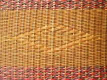Łozinowy tekstury tło, tradycyjny rękodzieło wyplata Wodnego hiacynt obrazy stock