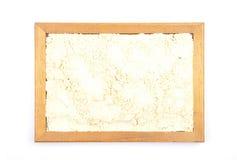 Łubinowa mąka w ramie fotografia stock