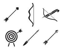 Łucznicze ikony ilustracji