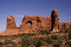 łuków formaci park narodowy skała Zdjęcia Stock