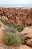 Łuków Park Narodowy skały Zdjęcia Royalty Free
