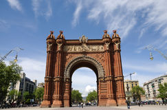 łuk Barcelona De Triomf Zdjęcie Royalty Free