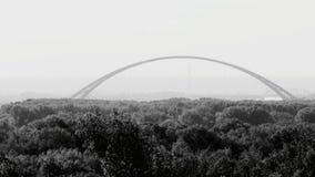 Łuk Bugrinsky most w Novosibirsk fotografia royalty free