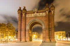 Łuk De Triomf, Barcelona -, Hiszpania obrazy royalty free