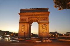 łuk De Triomphe Zdjęcie Royalty Free