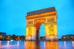 Łuk De Triomphe De l'Etoile w Paryż Obraz Royalty Free