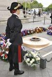 Łuk De Triomphe, grobowiec Niewiadomy żołnierz, Pari Fotografia Stock
