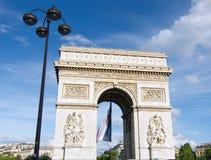 Łuk De Triomphe, Paryż Fotografia Stock