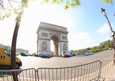 Łuk De Triomphe Paryż zdjęcia royalty free