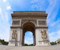 Łuk De Triomphe w Paryż łuku Triumph Obraz Stock