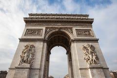 Łuk De Triomphe w Paryż, Francja - Obrazy Royalty Free