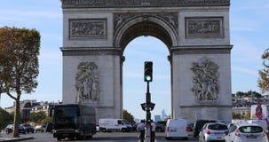 Łuk De Triomphe w Paryskim Francja zbiory wideo