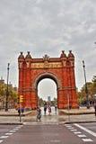 Łuk De Tryumfujący Barcelona Obrazy Stock