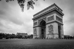 Łuk De w Paryż Triomphe fotografia royalty free