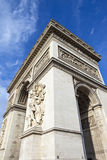 Łuk De w Paryż Triomphe Fotografia Stock