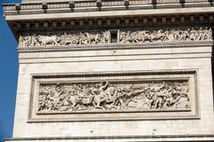 Łuk De w Paryż Triomphe Zdjęcia Stock