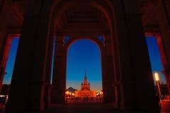 Łuk główne wejście VDNH po przywrócenia zdjęcia royalty free