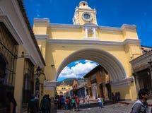 Łuk, sławny punkt zwrotny, Antigua, Gwatemala Zdjęcie Stock